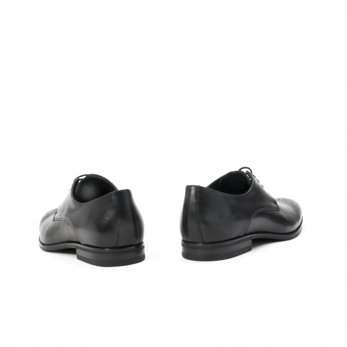 Pantofi barbati eleganti, piele naturala, Leofex 898, negru 6