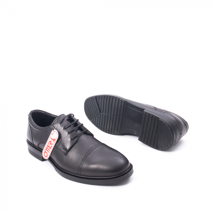 Pantofi barbati piele naturala Otter 5421, negru 3