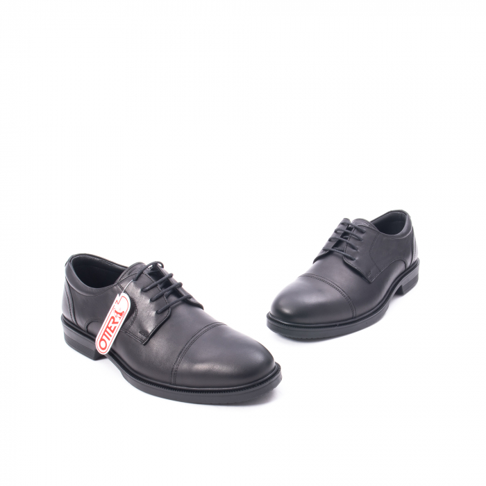 Pantofi barbati piele naturala Otter 5421, negru 5
