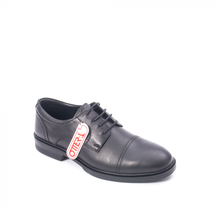 Pantofi barbati piele naturala Otter 5421, negru 0