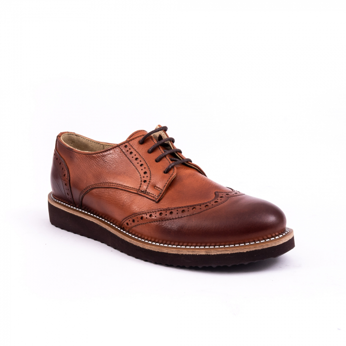 Pantofi dama casual Catali 171611 piele naturala, coniac 0