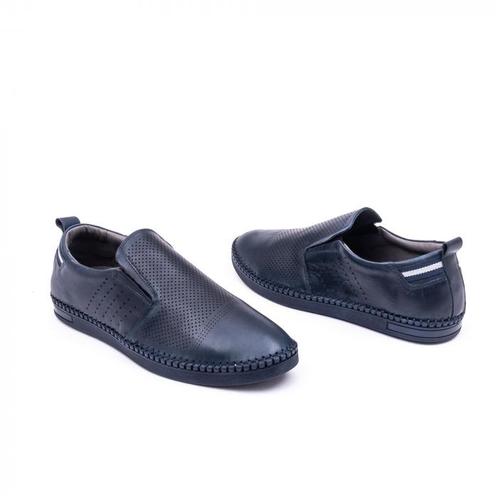 Pantofi barbati casual piele naturala Catali 191543, jeans 3