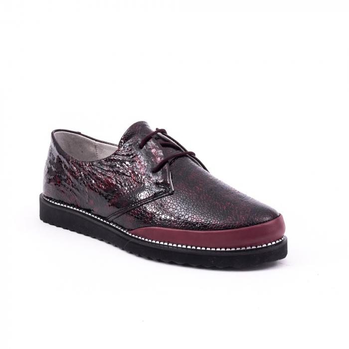 Pantofi casual 191641 bordo 0