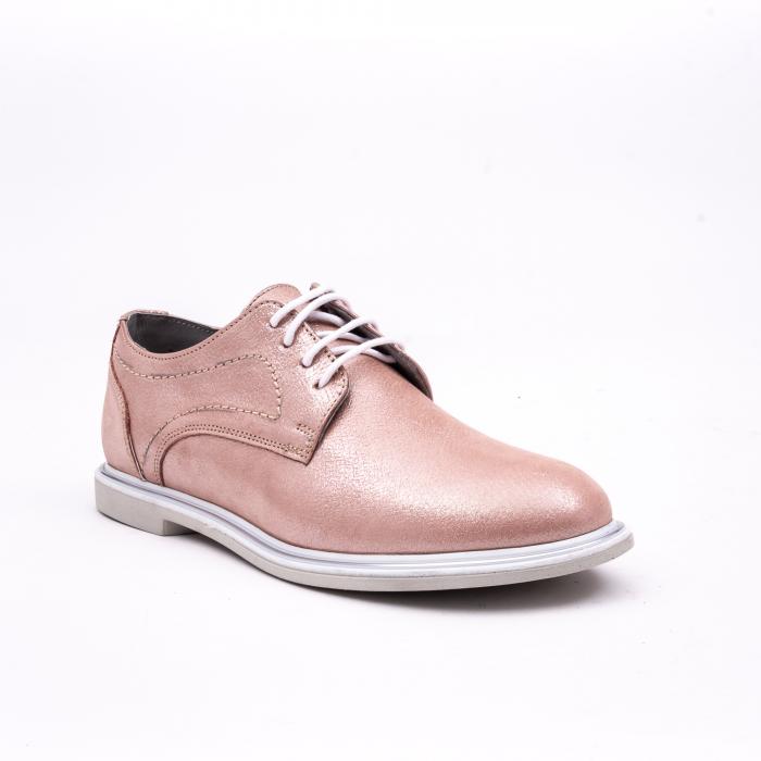 PantofI dama casual piele naturala, Catali-Shoes 191646, pudra 0