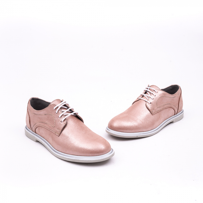 PantofI dama casual piele naturala, Catali-Shoes 191646, pudra 1