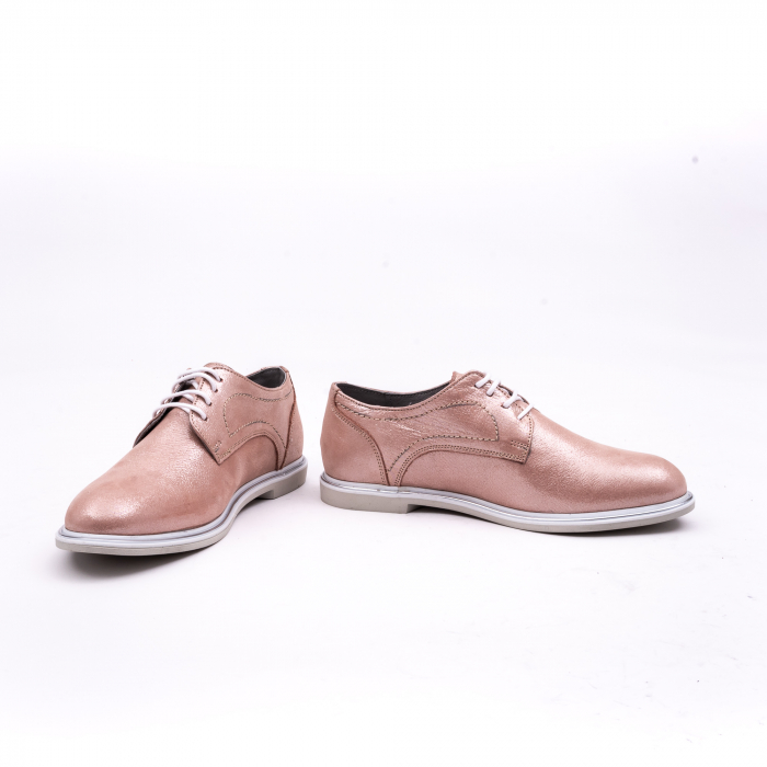 PantofI dama casual piele naturala, Catali-Shoes 191646, pudra 4