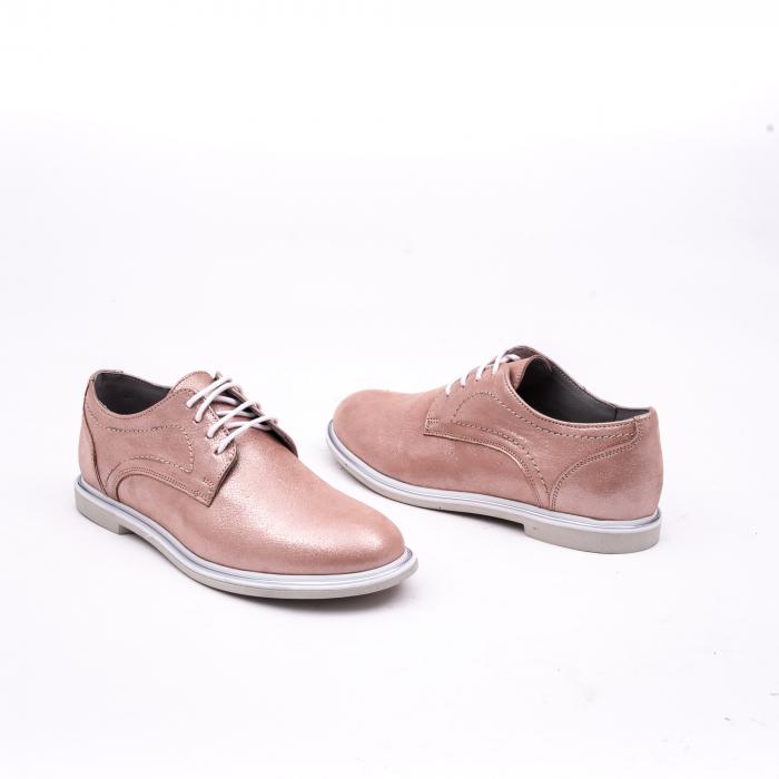PantofI dama casual piele naturala, Catali-Shoes 191646, pudra 3