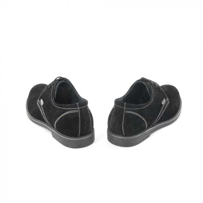 Pantof casual adolescent LFX 578 negru velur 6