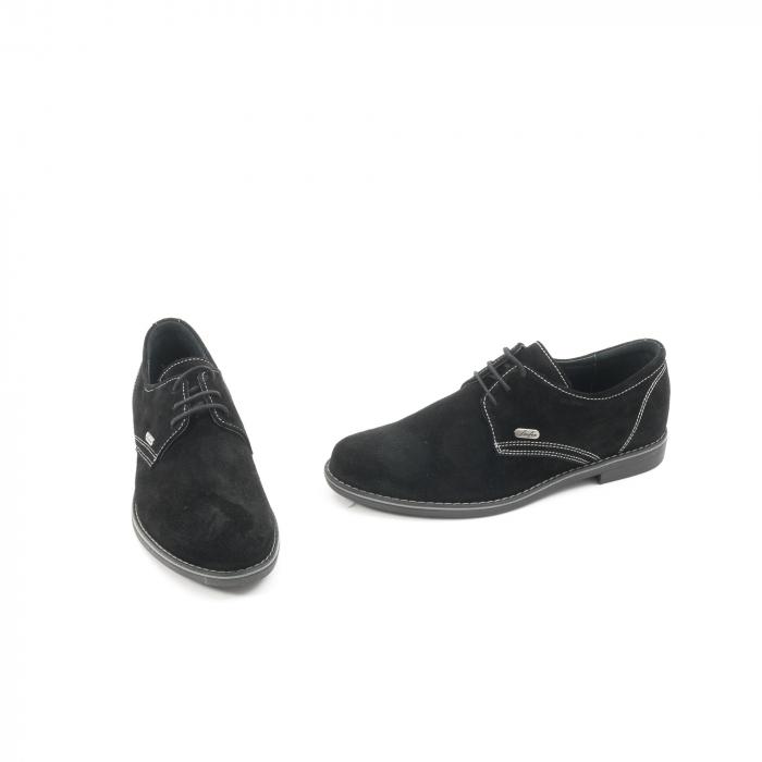 Pantof casual adolescent LFX 578 negru velur 1