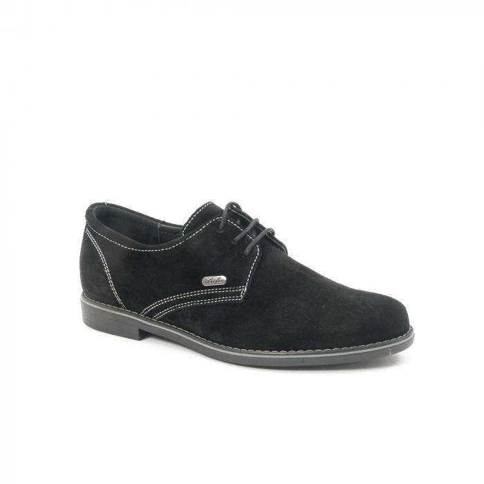 Pantof casual adolescent LFX 578 negru velur 0