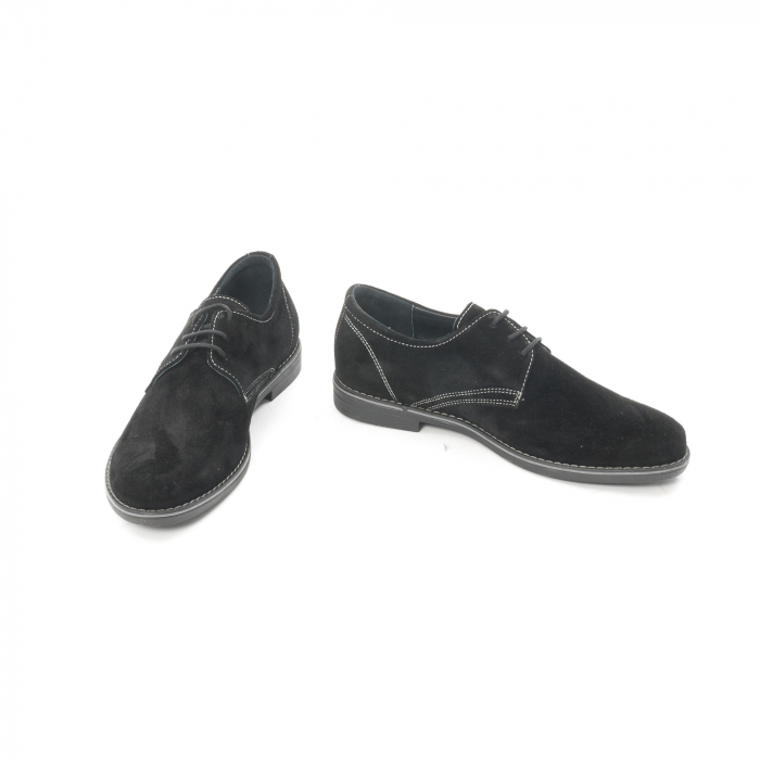 Pantof casual adolescent LFX 578 negru velur 4
