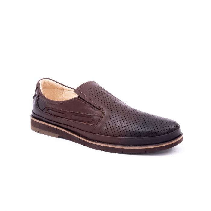 Pantofi barbati casual piele naturala, Catali 191537, maro 0