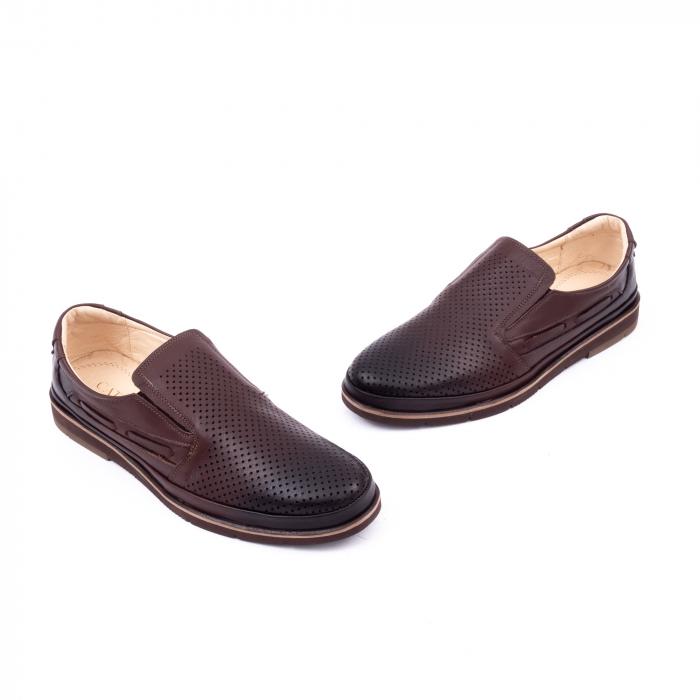 Pantofi barbati casual piele naturala, Catali 191537, maro 1