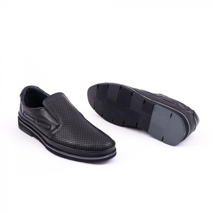 Pantofi barbati casual piele naturala, Catali 191537, negru 2