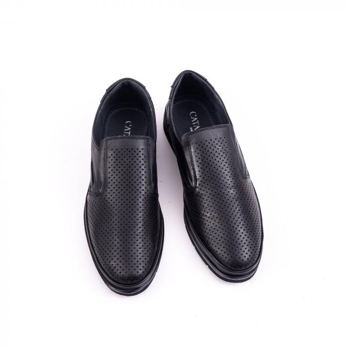 Pantofi barbati casual piele naturala, Catali 191537, negru 5