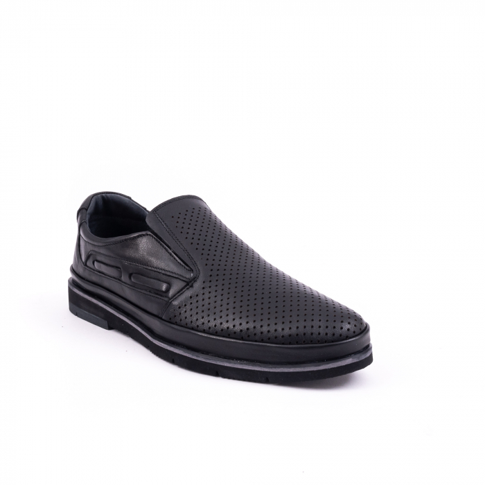 Pantofi barbati casual piele naturala, Catali 191537, negru 0