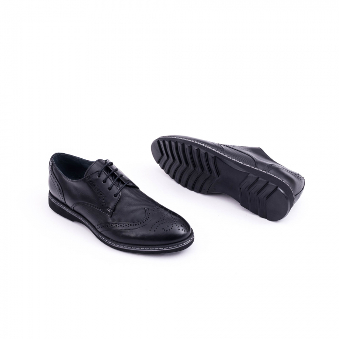 Pantof barbat model Oxford - CataliShoes 181584CR negru 3