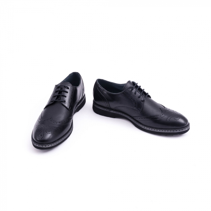 Pantof barbat model Oxford - CataliShoes 181584CR negru 4