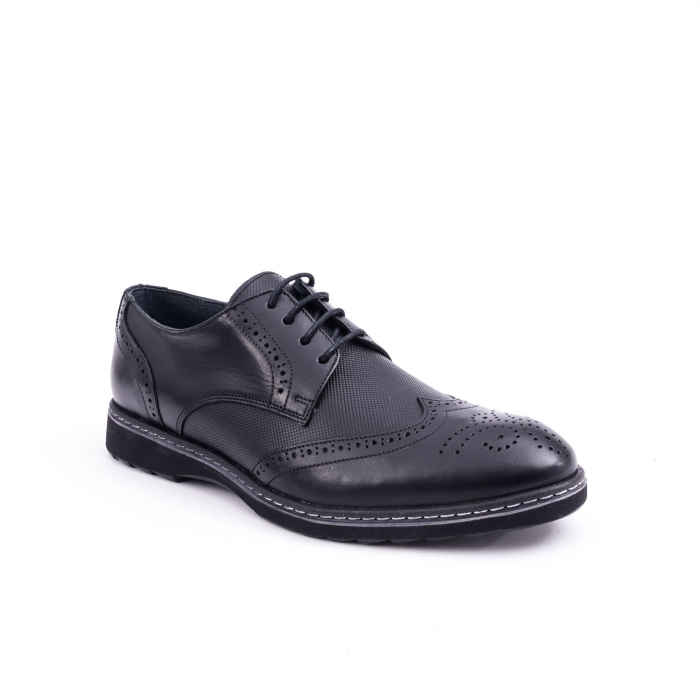 Pantof barbat model Oxford - CataliShoes 181584CR negru 0