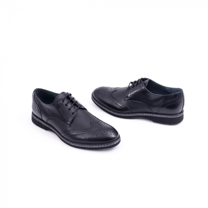 Pantof barbat model Oxford - CataliShoes 181584CR negru 1