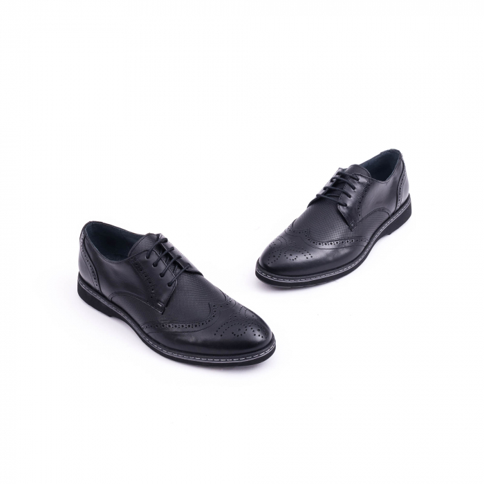 Pantof barbat model Oxford - CataliShoes 181584CR negru 2