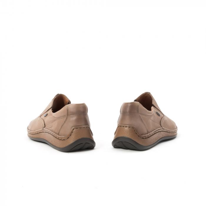 Pantofi barbati casual, piele naturala, Leofex 919, taupe 6