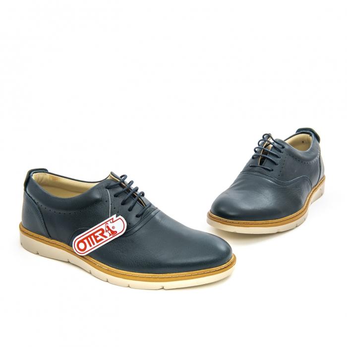 Pantofi casual barbati Otter OT 5915 navy lotus, bleumarin 1
