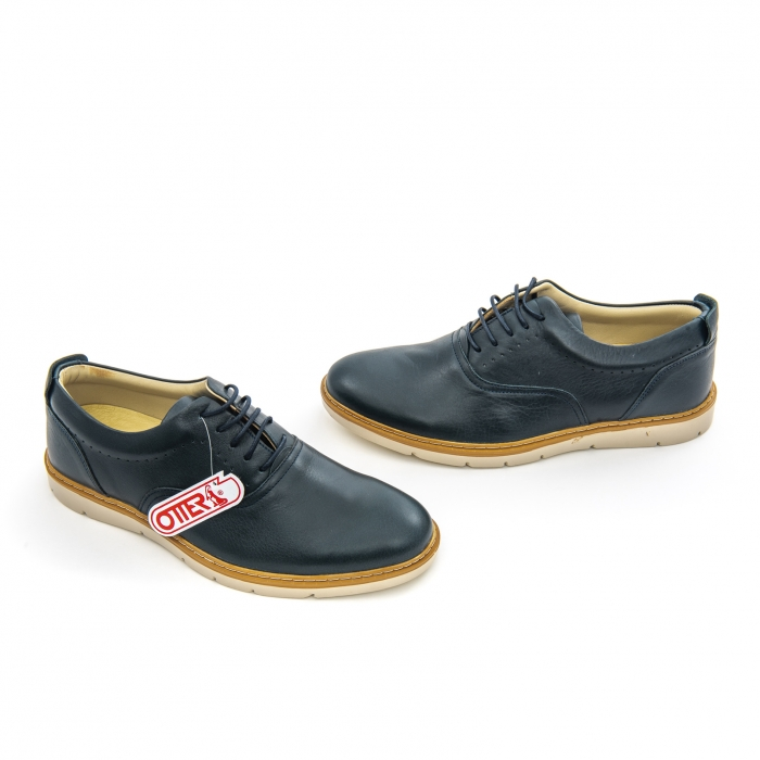 Pantofi casual barbati Otter OT 5915 navy lotus, bleumarin 2