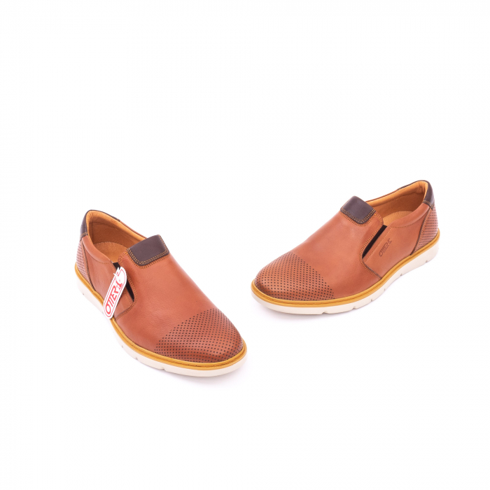 Pantofi casual barbati, piele naturala, OT 5916 coniac [1]