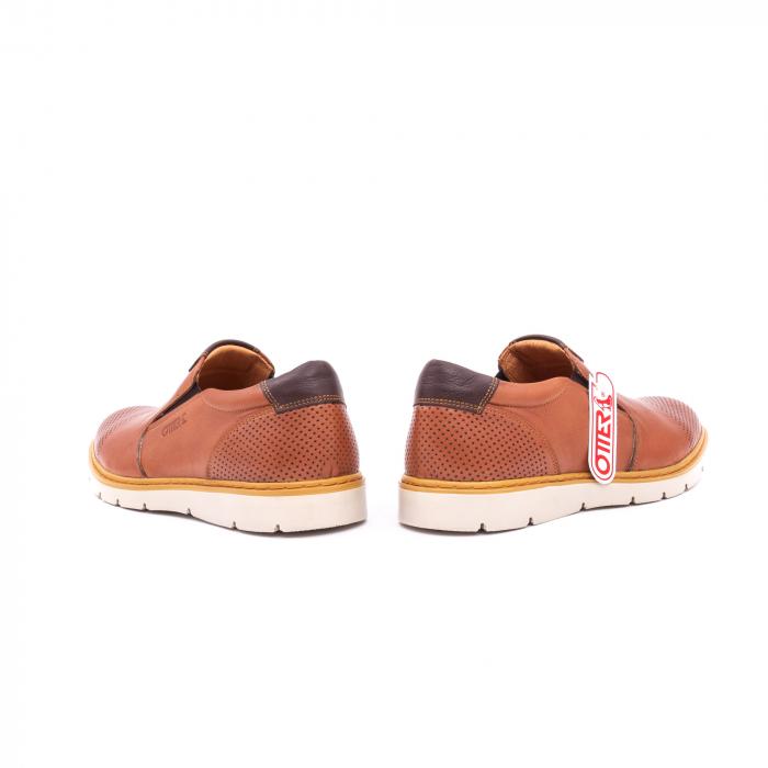 Pantofi casual barbati, piele naturala, OT 5916 coniac [6]