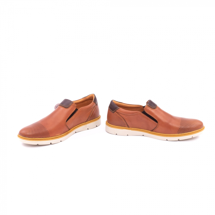 Pantofi casual barbati, piele naturala, OT 5916 coniac [4]
