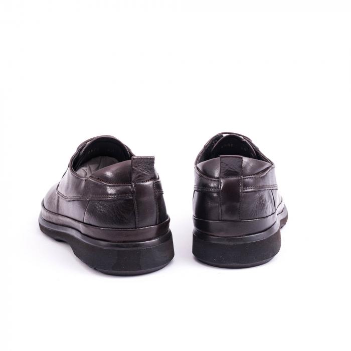 Pantofi barbati casual piele naturala, Catali 182506 star, maro 5