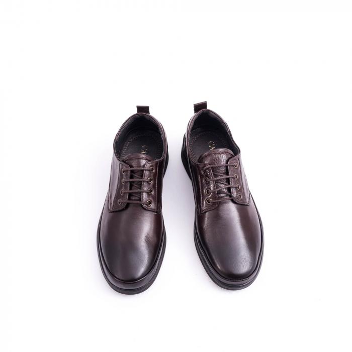 Pantofi barbati casual piele naturala, Catali 182506 star, maro 4
