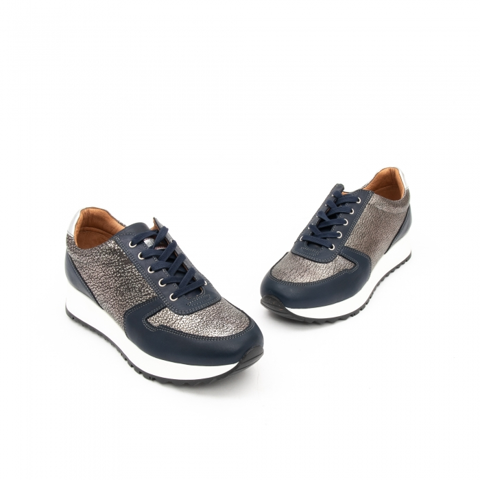 Pantof casual cu siret LFX 101 blue argintiu 1