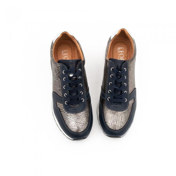 Pantof casual cu siret LFX 101 blue argintiu 6