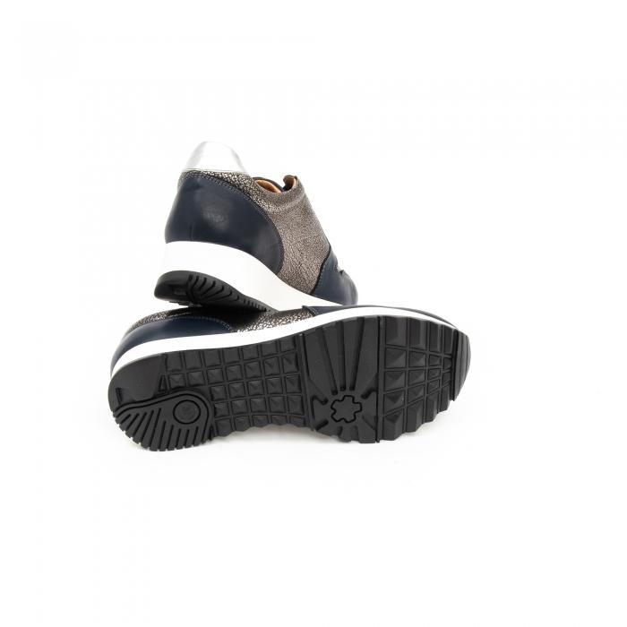 Pantof casual cu siret LFX 101 blue argintiu 4