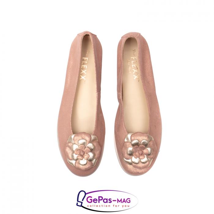Pantofi casual dama B226 pudra 5