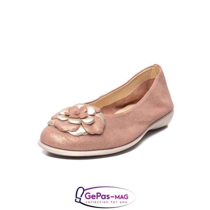 Pantofi casual dama B226 pudra 0