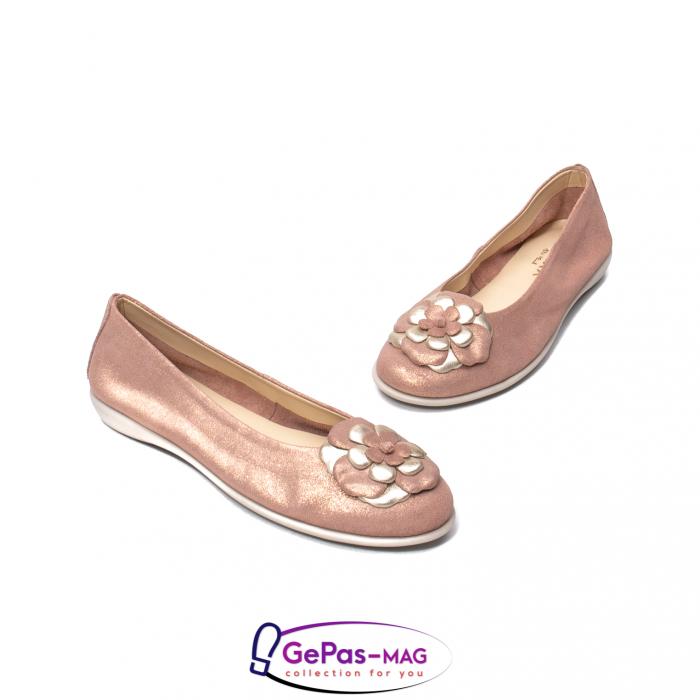 Pantofi casual dama B226 pudra 1