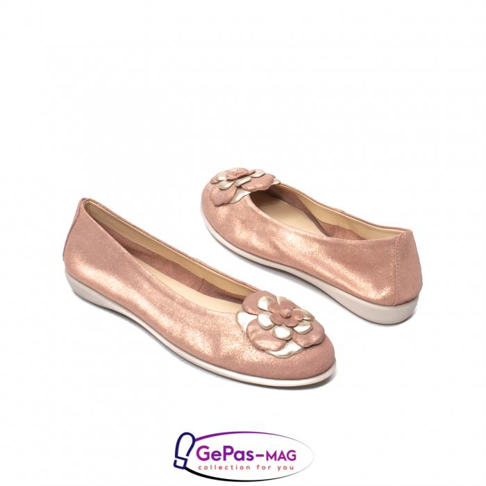 Pantofi casual dama B226 pudra 2