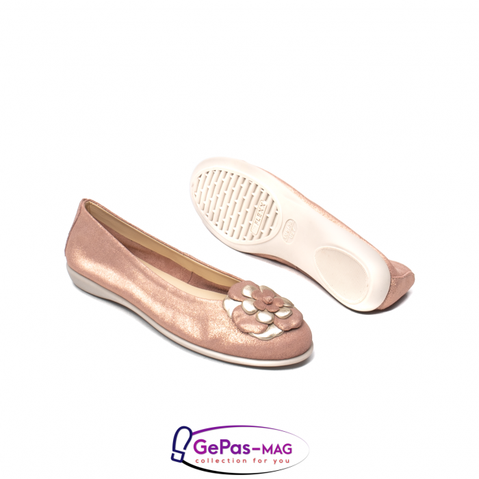 Pantofi casual dama B226 pudra 3