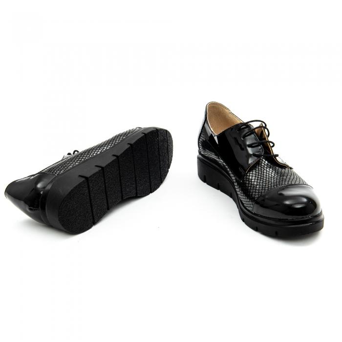 Pantof casual dama ,cod 1129 negru 4