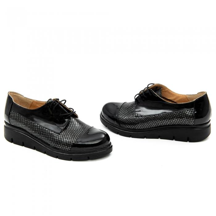 Pantof casual dama ,cod 1129 negru 1
