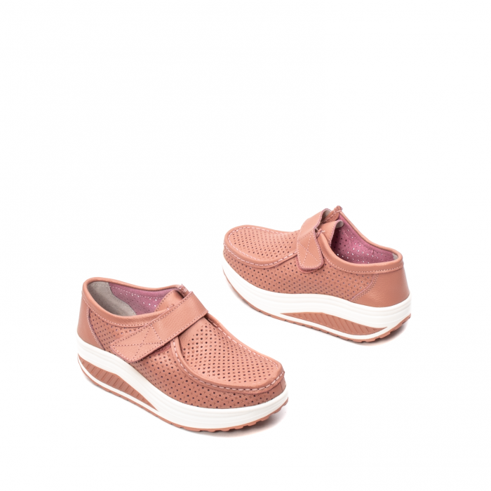 Pantofi dama casual de vara, piele naturala, 2075 P 2