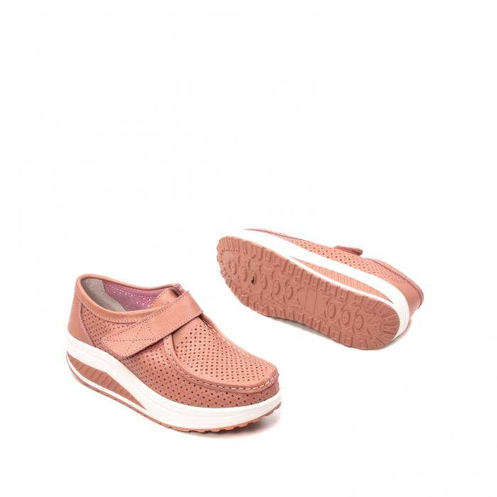 Pantofi dama casual de vara, piele naturala, 2075 P 3