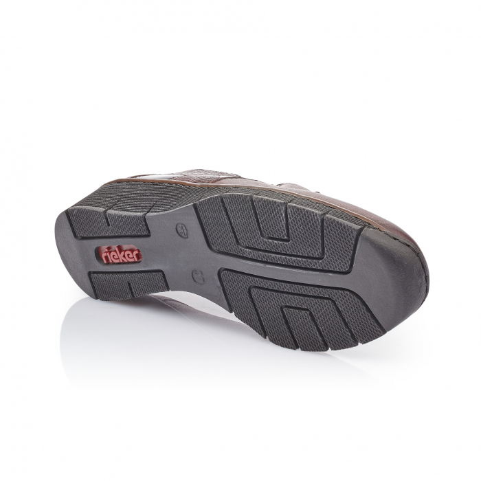 Pantof casual dama din piele naturala Rieker 53754-35 bordo 2