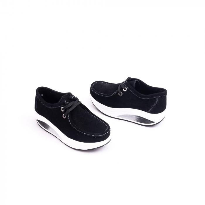 Pantof casual dama F003-1807 black suede 2