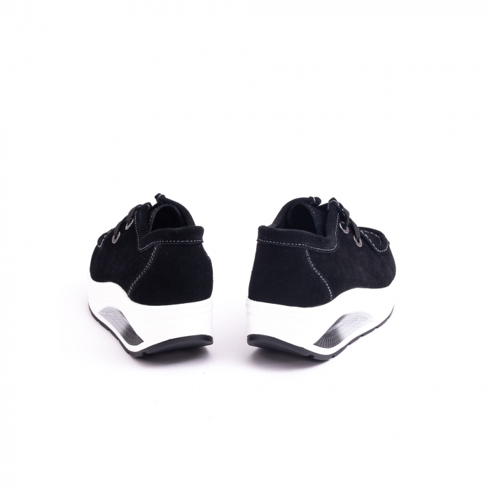 Pantof casual dama F003-1807 black suede 6