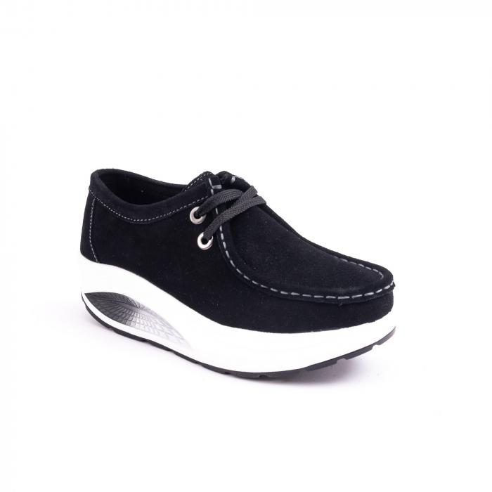Pantof casual dama F003-1807 black suede 0