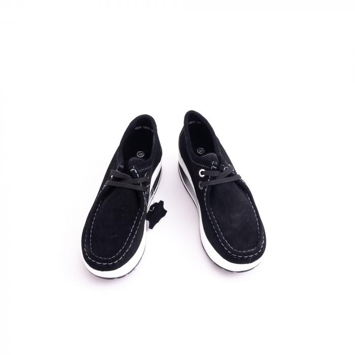 Pantof casual dama F003-1807 black suede 5